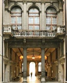 Interior courtyard of Ca' Rezzonico.
