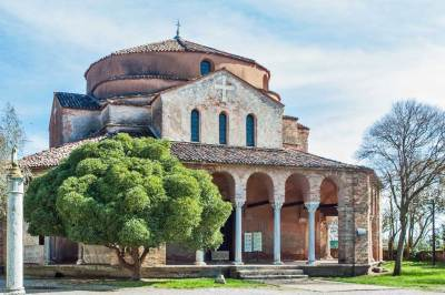 Torcello's Venetian-Byzantine  church of Santa Fosca.