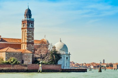 The Church of San Michele in Isola on the lagoon's cemetery island.