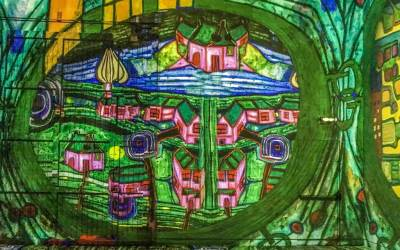 Hundertwasser Utopian World,