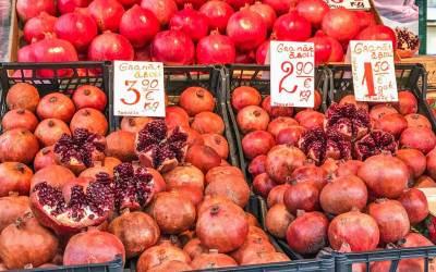 Pomegranates at the Central Market.