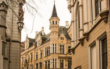 Riga-Old Town corner.