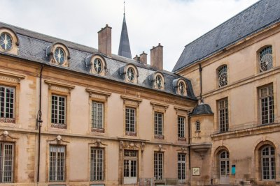 The courtyard of the Palace of the Dukes of Burgundy.