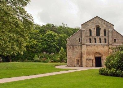 Abbey of Fontenay - the church facade.