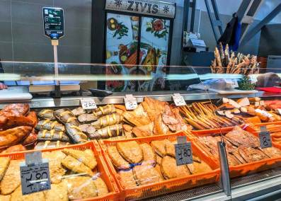 The Central Market offers a mind-boggling selection of smoked fish.