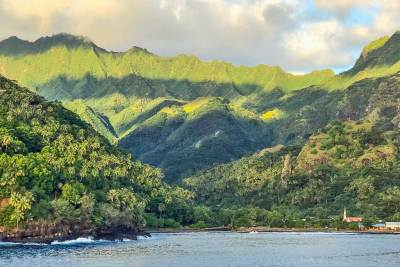 Hiva Oa is home to the highest mountains in Polynesia.
