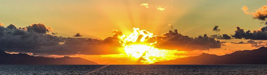 Marquesas-Tahuata sunrise.