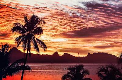 Moorea sunset.