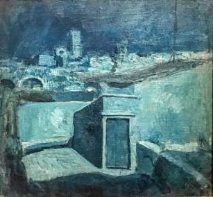 "The Roofs of Barcelona,"" Pablo Picasso, 1902 (Museu Picasso, Barcelona)."