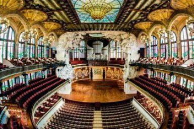 Barcelona-Palau glass ceiling.