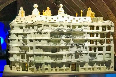 Architectural model of La Pedrera.