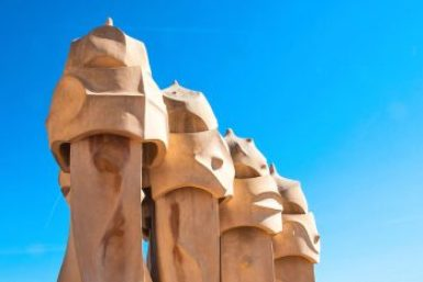 Gaudi-Pedrera roof warriors.