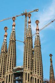 Gaudi-Sagrada steeples.