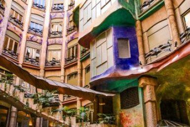 Gaudi-Casa Mila atrium.