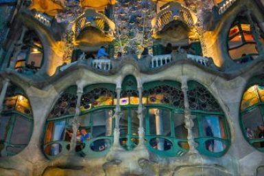 Gaudi-Casa Batllo facade detail.