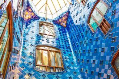 Gaudi-Casa Batllo skyline.