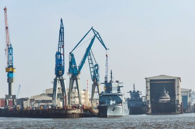 The Port of Hamburg has the largest dry dock in the world.