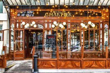 Montparnasse Art Nouveau facade.