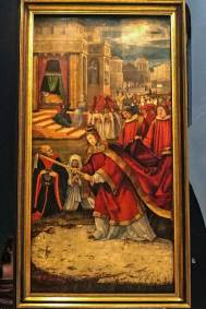 The Snow Miracle: Founding of Rome's Santa Maria Maggiore.  Matthias Grünewald (1480 - 1528. Augustiner Museum).