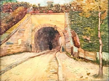 Roadway Underpass, Vincent Van Gogh, 1887. Post-Impressionst oil on cardboard (Guggenheim Museum, New York, Thannhauser Collection).