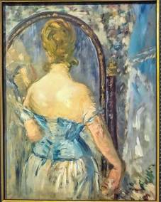 Before the Mirror, Edouart Manet, 1876 Impressionist oil on canvas (Guggenheim Museum, New York, Thannhauser Collection).