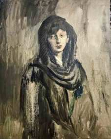 Fernande with a Black Mantilla Pablo Picasso, 1905 Post-Impressionist oil on canvas (Guggenheim Museum, New York, Thannhauser Collection).