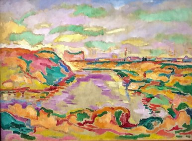 Landscape near Antwerp, Georges Braque, 1906, oil on canvas. (Guggenheim Museum, New York, Thannhauser Collection).
