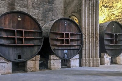 Abbey of Valmagne - 18th century Russian oak casks.
