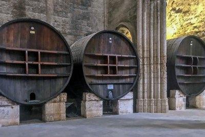 Abbey of Valmagne - 18th century Russian oak casks.