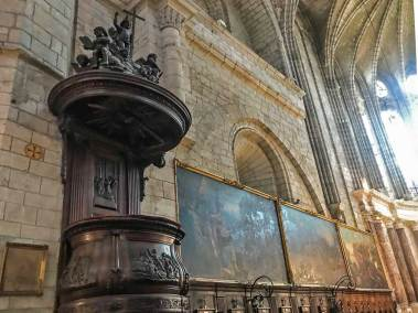 Beziers-Cathedral pulpit