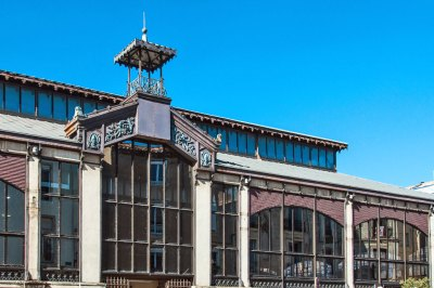 Les Halles de Béziers - The 19th century glass and iron structure of the central food market is built in the style of the famous Baltard pavilion in Paris. Beziers