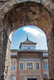 The entrance of the Alcázar Palace.