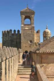 The fortification towers of the Alcázar.