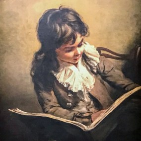 Boy reading (1795. Ramseay Richard Reinagle, oil on canvas).