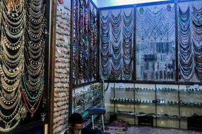 A jeweler stall in the souks..