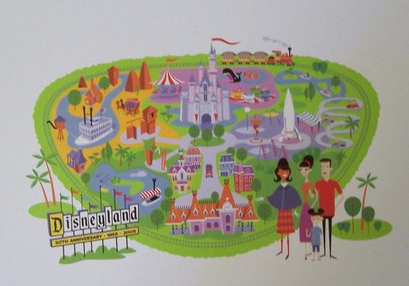 photograph regarding Disneyland Printable Map named Josh Agle Unauthorised » Disneyland Map Celebration