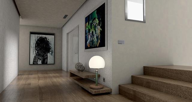 Artistic hallway.