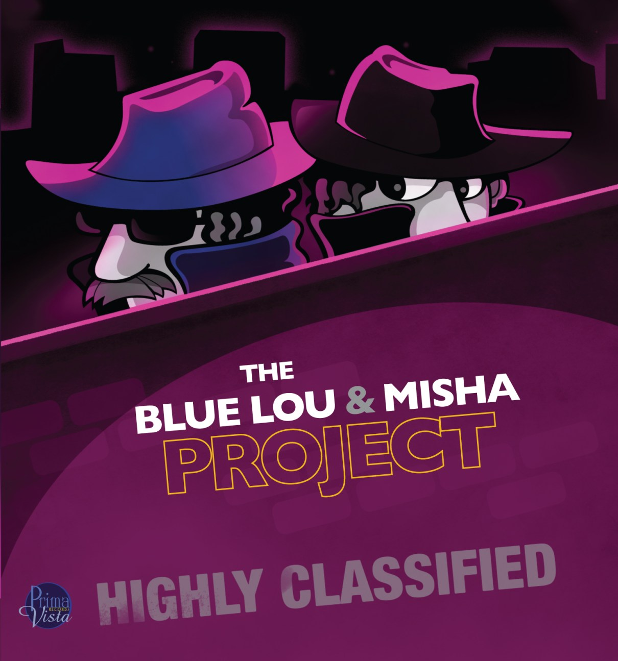 The Blue Lou and Misha Project CD illustration and design