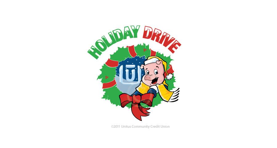 2011 Unitus Holiday Drive cartoon logo by Josh Cleland