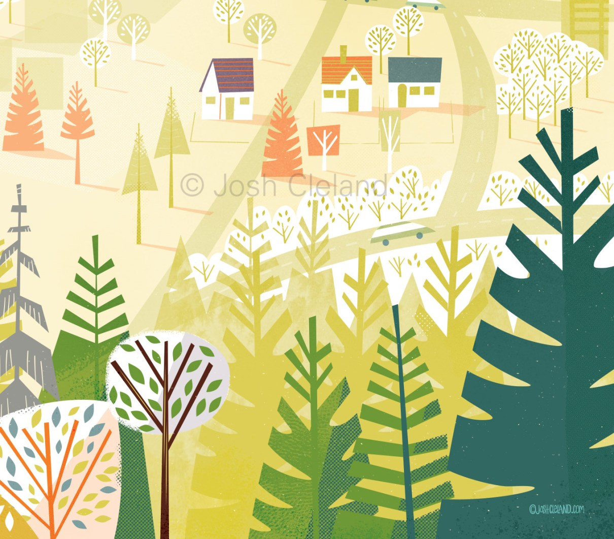 Portland Aerial Tram illustration detail 1