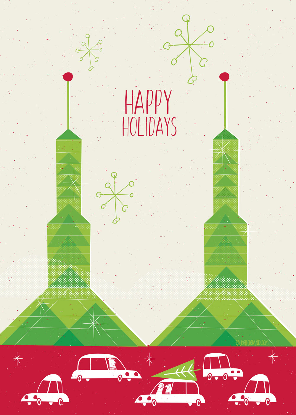 Oregon Convention Center Greeting Card by Josh Cleland