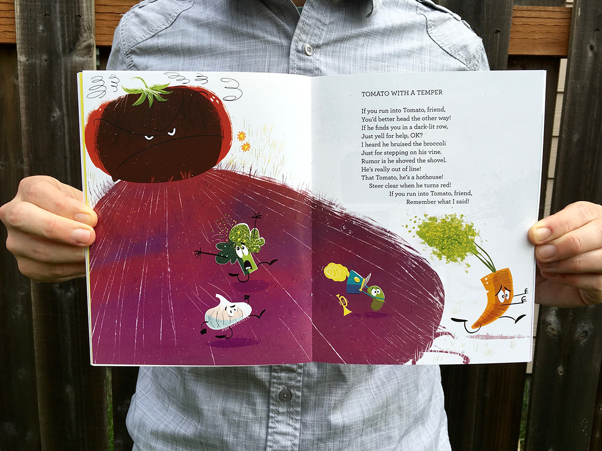 Gnome in my Garden illustrations by Josh Cleland