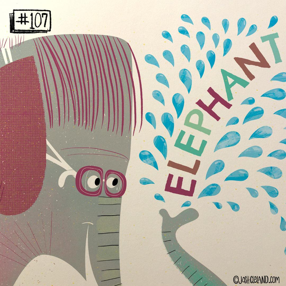 LAND of CLE by illustrator Josh Cleland Elephant illustration