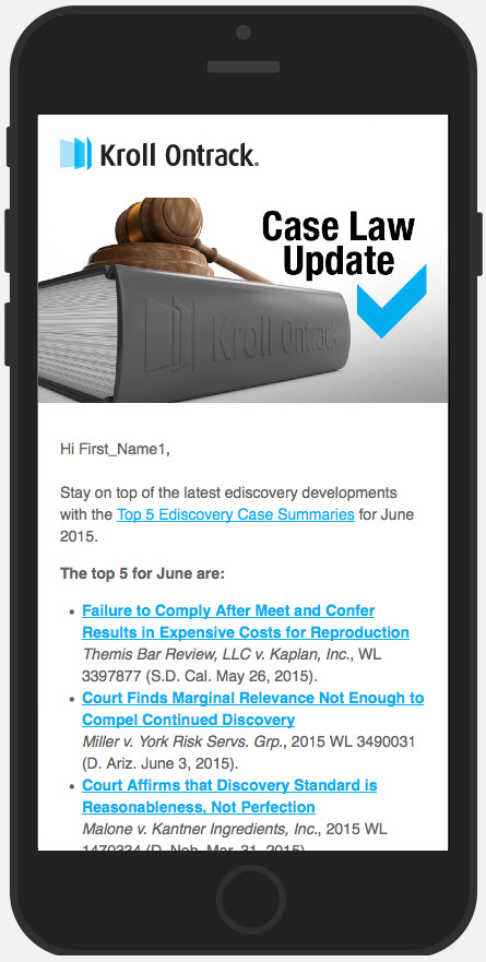 Responsive email example on iPhone 6