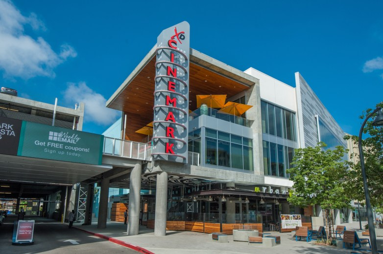 Cinemark Movie Theater and Urban Plates in Playa Vista, CA