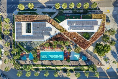 Aerial View of The Resort in Playa Vista, CA