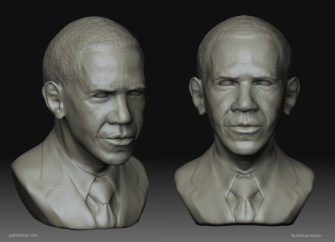 Barack Obama Portrait (Character Modeling/Digital Sculpture)