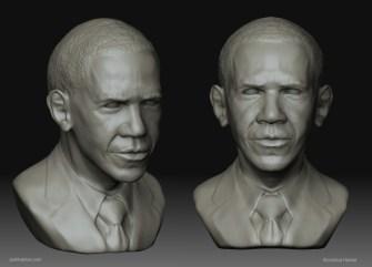 Barack Obama Portrait (Character Modeling/Digital Sculpture)