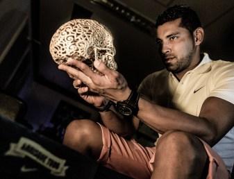 Joshua Harker, 3d printing, skull, Nike, André Santos