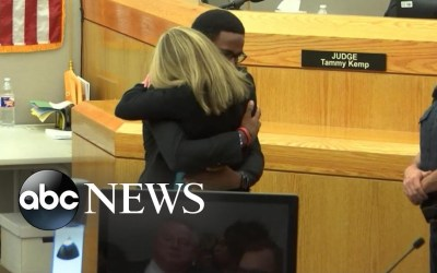 Botham Jean's brother embraces ex-cop Amber Guyger, who was convicted of his murder | Nightline